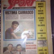 Coleccionismo deportivo: SPORT DIARIO DEPORTIVO AÑO 1 NUMERO 1 DE 3 DE NOVIEMBRE 1979 ORIGINAL. Lote 222851396