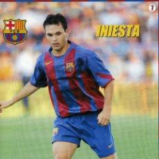 Coleccionismo deportivo: INIESTA - F. C. BARCELONA. Lote 222902656