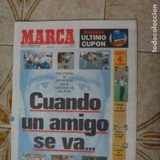 Coleccionismo deportivo: PERIODICO MARCA 21/9/96 INDURAIN ABANDONA LA VUELTA. Lote 223024053