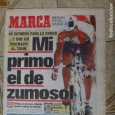Coleccionismo deportivo: PERIODICO MARCA 9/7/95 SUPER ETAPA DE INDURAIN EN EL TOUR. Lote 223036370