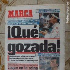 Coleccionismo deportivo: PERIODICO MARCA 6/6/94 ARANTXA, BRUGUERA Y JACOBO DIAZ GANAN ROLAND GARROS. Lote 223038138