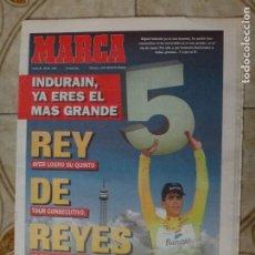 Coleccionismo deportivo: PERIODICO MARCA 24/7/95 INDURAIN GANA SU QUINTO TOUR. Lote 223038921