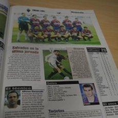 Colecionismo desportivo: RECORTE DON BALON TEMPORADA 98-99.FOTO Y LISTADO DE JUGADORES DEL SD EIBAR. Lote 223073793