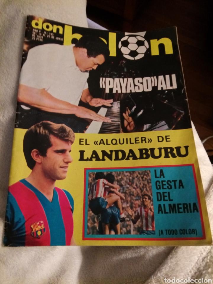 DON BALÓN. NÚMERO 193. AÑO 1979. LANDABURU. ALÍ. ALMERÍA. (Coleccionismo Deportivo - Revistas y Periódicos - Don Balón)