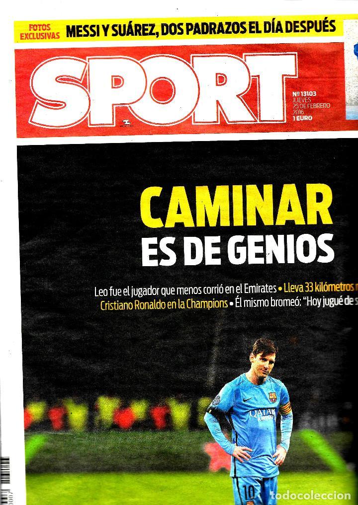 SPORT - CAMINAR ES DE GENIOS (Coleccionismo Deportivo - Revistas y Periódicos - Sport)