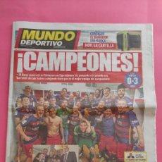Coleccionismo deportivo: DIARIO MUNDO DEPORTIVO FC BARCELONA CAMPEON LIGA 2015 2016 BARÇA 15/16 LUIS ENRIQUE SUAREZ PICHICHI. Lote 243946680