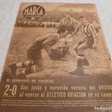 Collezionismo sportivo: MARCA (13-1-42)!! BARÇA 1 ESPAÑOL 2 !!! BILBAO 10 CELTA 0 !!!GRANADA 3 R.MADRID 1,GOYIN(OVIEDO). Lote 223442096