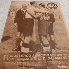 Collezionismo sportivo: MARCA (5-5-42) ALEMANIA 5 HUNGRIA 3,COPA R.MADRID 4 FERROVIARIA 1,BARÇA 4 TARRASA 0,AT.AVIACIÓN. Lote 223448557