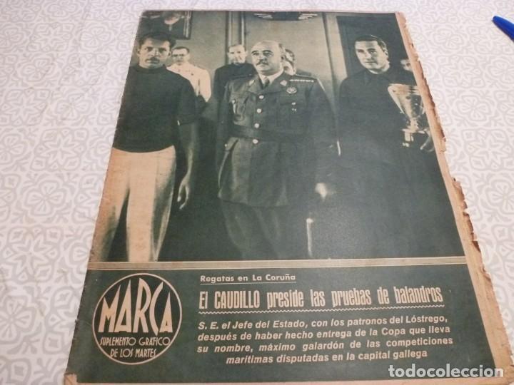MARCA (10-8-43)LUCHA GRECORROMANA,FRANCISCO FRANCO,EL BILLAR,RICARDO ZAMORA,VUELTA CICLISTA (Coleccionismo Deportivo - Revistas y Periódicos - Marca)