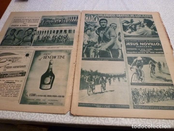 Coleccionismo deportivo: MARCA (10-8-43)LUCHA GRECORROMANA,FRANCISCO FRANCO,EL BILLAR,RICARDO ZAMORA,VUELTA CICLISTA - Foto 2 - 223513655