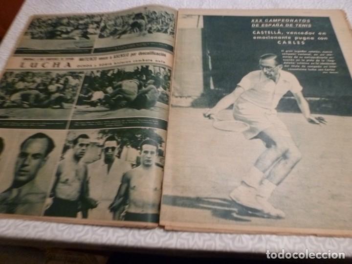 Coleccionismo deportivo: MARCA (10-8-43)LUCHA GRECORROMANA,FRANCISCO FRANCO,EL BILLAR,RICARDO ZAMORA,VUELTA CICLISTA - Foto 4 - 223513655