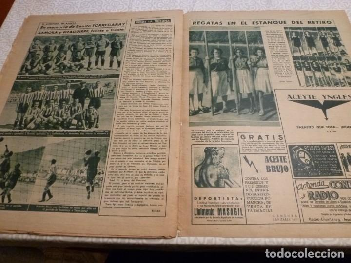 Coleccionismo deportivo: MARCA (10-8-43)LUCHA GRECORROMANA,FRANCISCO FRANCO,EL BILLAR,RICARDO ZAMORA,VUELTA CICLISTA - Foto 12 - 223513655