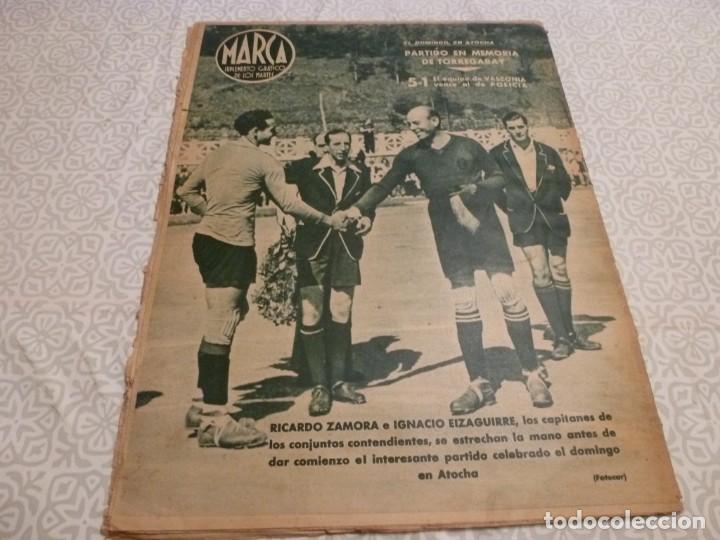 Coleccionismo deportivo: MARCA (10-8-43)LUCHA GRECORROMANA,FRANCISCO FRANCO,EL BILLAR,RICARDO ZAMORA,VUELTA CICLISTA - Foto 13 - 223513655