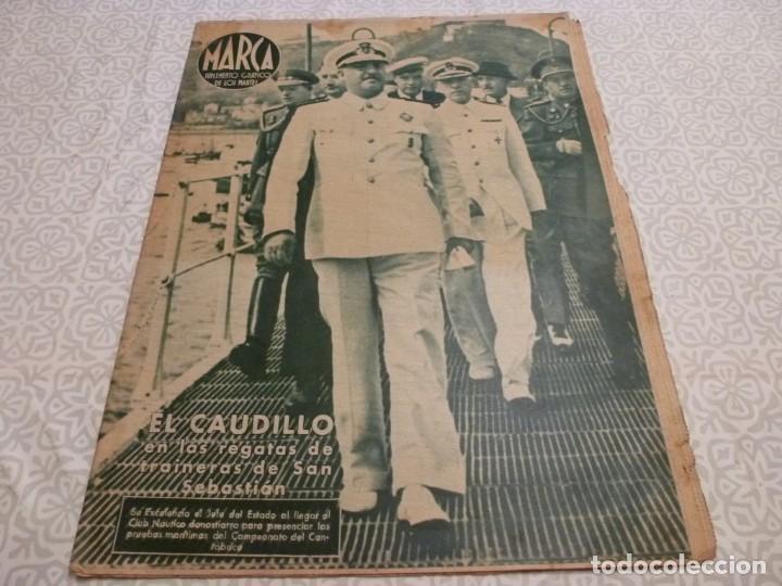 MARCA (14-9-43)FRANCO EN LAS REGATAS, VALENCIA 4 BARÇA 3,R.MADRID 5 HERCULES 3 (AMISTOSO) (Coleccionismo Deportivo - Revistas y Periódicos - Marca)