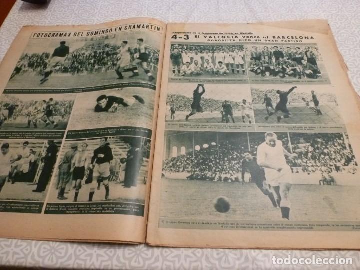 Coleccionismo deportivo: MARCA (14-9-43)FRANCO EN LAS REGATAS, VALENCIA 4 BARÇA 3,R.MADRID 5 HERCULES 3 (AMISTOSO) - Foto 3 - 223515526