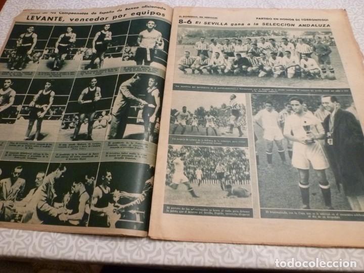 Coleccionismo deportivo: MARCA (14-9-43)FRANCO EN LAS REGATAS, VALENCIA 4 BARÇA 3,R.MADRID 5 HERCULES 3 (AMISTOSO) - Foto 4 - 223515526