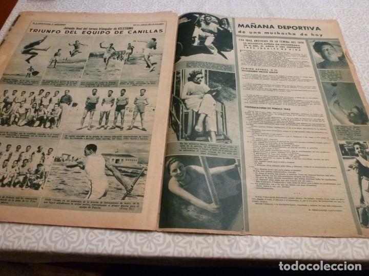 Coleccionismo deportivo: MARCA (14-9-43)FRANCO EN LAS REGATAS, VALENCIA 4 BARÇA 3,R.MADRID 5 HERCULES 3 (AMISTOSO) - Foto 10 - 223515526