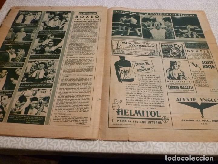 Coleccionismo deportivo: MARCA (14-9-43)FRANCO EN LAS REGATAS, VALENCIA 4 BARÇA 3,R.MADRID 5 HERCULES 3 (AMISTOSO) - Foto 12 - 223515526