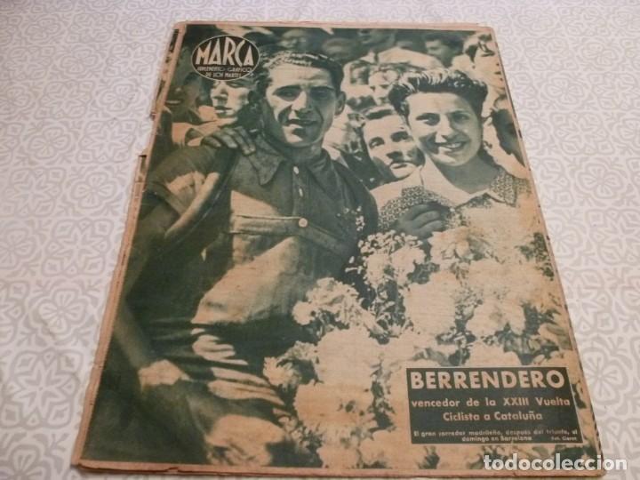 Coleccionismo deportivo: MARCA (14-9-43)FRANCO EN LAS REGATAS, VALENCIA 4 BARÇA 3,R.MADRID 5 HERCULES 3 (AMISTOSO) - Foto 13 - 223515526