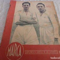 Coleccionismo deportivo: MARCA (9-1-45)BARÇA 2 AT.AVIACIÓN 2,SABADELL 1 VALENCIA 1,R.MADRID 4 OVIEDO 1,OLIVIA DE HAVILLAND.. Lote 223516171