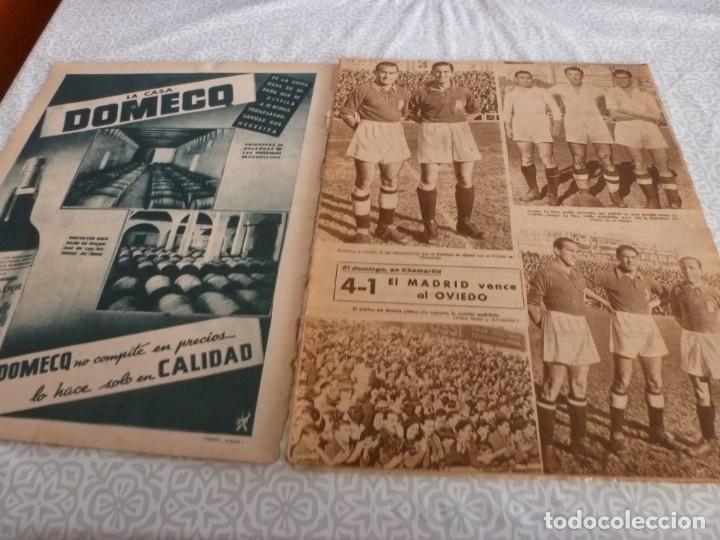 Coleccionismo deportivo: MARCA (9-1-45)BARÇA 2 AT.AVIACIÓN 2,SABADELL 1 VALENCIA 1,R.MADRID 4 OVIEDO 1,OLIVIA DE HAVILLAND. - Foto 2 - 223516171
