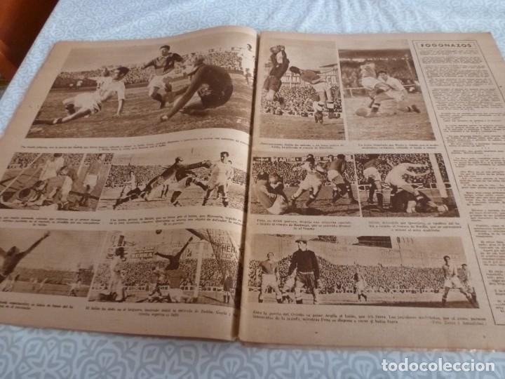 Coleccionismo deportivo: MARCA (9-1-45)BARÇA 2 AT.AVIACIÓN 2,SABADELL 1 VALENCIA 1,R.MADRID 4 OVIEDO 1,OLIVIA DE HAVILLAND. - Foto 4 - 223516171