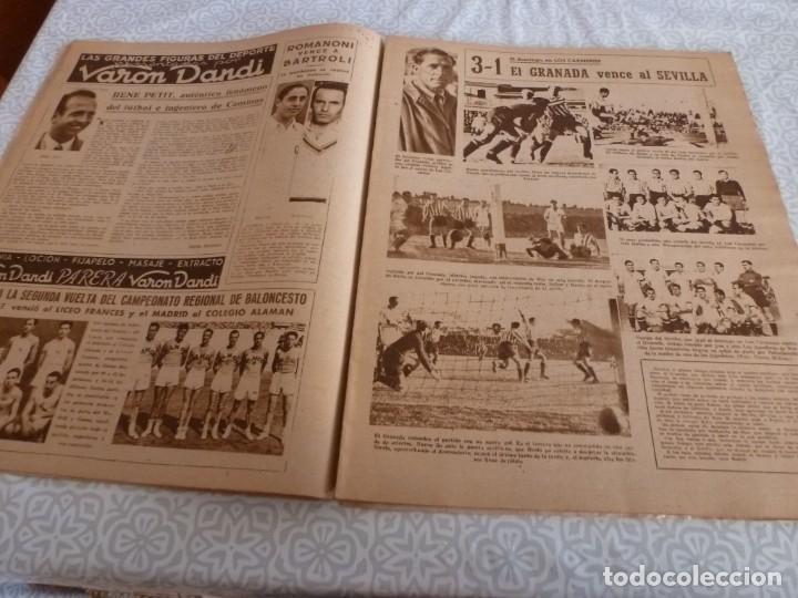 Coleccionismo deportivo: MARCA (9-1-45)BARÇA 2 AT.AVIACIÓN 2,SABADELL 1 VALENCIA 1,R.MADRID 4 OVIEDO 1,OLIVIA DE HAVILLAND. - Foto 6 - 223516171