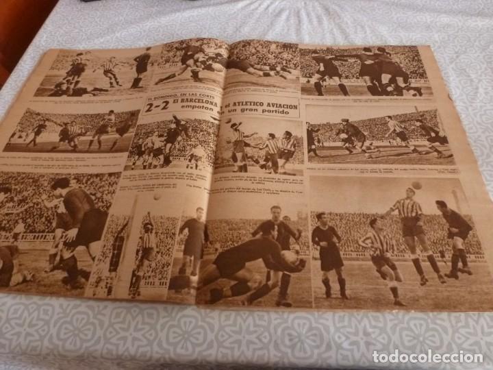 Coleccionismo deportivo: MARCA (9-1-45)BARÇA 2 AT.AVIACIÓN 2,SABADELL 1 VALENCIA 1,R.MADRID 4 OVIEDO 1,OLIVIA DE HAVILLAND. - Foto 8 - 223516171