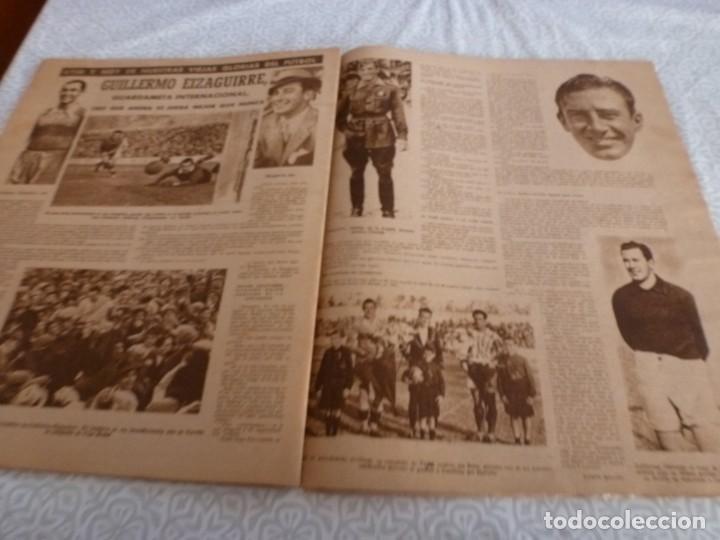Coleccionismo deportivo: MARCA (9-1-45)BARÇA 2 AT.AVIACIÓN 2,SABADELL 1 VALENCIA 1,R.MADRID 4 OVIEDO 1,OLIVIA DE HAVILLAND. - Foto 10 - 223516171
