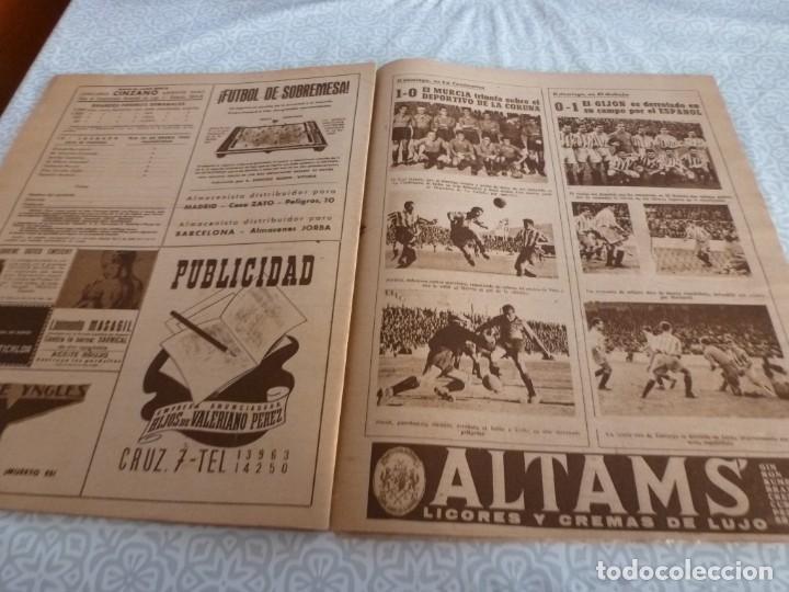 Coleccionismo deportivo: MARCA (9-1-45)BARÇA 2 AT.AVIACIÓN 2,SABADELL 1 VALENCIA 1,R.MADRID 4 OVIEDO 1,OLIVIA DE HAVILLAND. - Foto 11 - 223516171