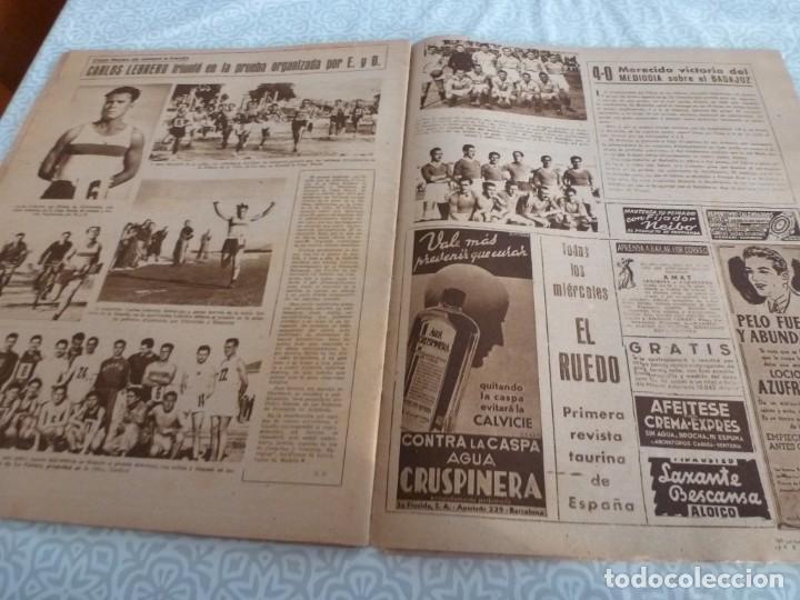 Coleccionismo deportivo: MARCA (9-1-45)BARÇA 2 AT.AVIACIÓN 2,SABADELL 1 VALENCIA 1,R.MADRID 4 OVIEDO 1,OLIVIA DE HAVILLAND. - Foto 13 - 223516171