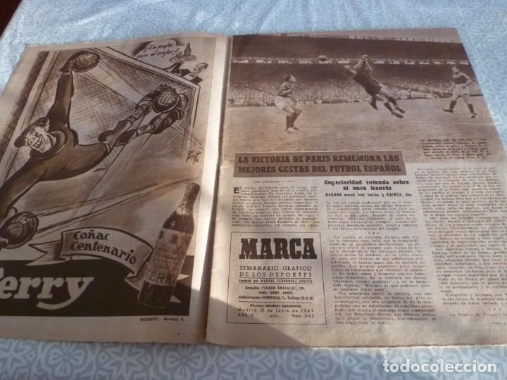 Coleccionismo deportivo: MARCA (21-6-49)!!! FRANCIA 1 ESPAÑA 5 !!! VALENCIA 5 SOCHAUX 2,ZARAGOZA 2 OPORTO 5 - Foto 2 - 223516801