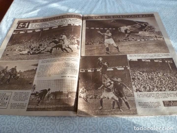 Coleccionismo deportivo: MARCA (21-6-49)!!! FRANCIA 1 ESPAÑA 5 !!! VALENCIA 5 SOCHAUX 2,ZARAGOZA 2 OPORTO 5 - Foto 3 - 223516801