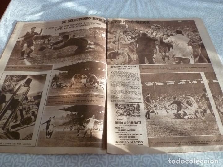 Coleccionismo deportivo: MARCA (21-6-49)!!! FRANCIA 1 ESPAÑA 5 !!! VALENCIA 5 SOCHAUX 2,ZARAGOZA 2 OPORTO 5 - Foto 5 - 223516801