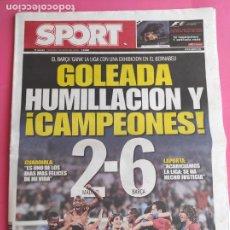 Collectionnisme sportif: DIARIO SPORT 2018 REAL MADRID 2-6 FC BARCELONA GOLEADA BERNABEU LIGA 08 09 MESSI BARÇA HUMILLACION. Lote 223573717