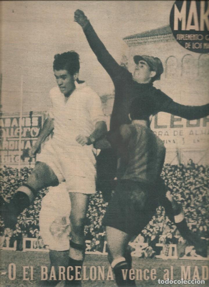 2532. MARCA 4 DE ENERO DE 1944. PERIODICO Y SUPLEMENTO GRAFICO. BARCELONA GANA A REAL MADRID (Coleccionismo Deportivo - Revistas y Periódicos - Marca)