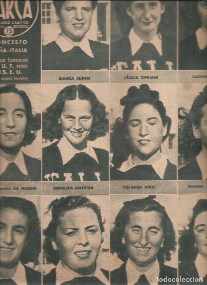 2535. MARCA BALONCESTO Y TENIS FEMENINO 4 AGOSTO 1942 (Coleccionismo Deportivo - Revistas y Periódicos - Marca)