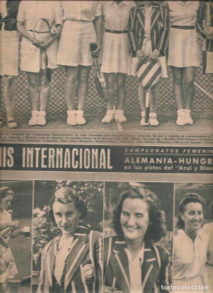 Coleccionismo deportivo: 2535. marca baloncesto y tenis femenino 4 agosto 1942 - Foto 2 - 223970710