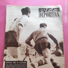Collectionnisme sportif: VIDA DEPORTIVA Nº 243 1950 COPA RACING SANTANDER 5-1 BARÇA - NASTIC 1-7 REAL MADRID ESPANYOL. Lote 224159070