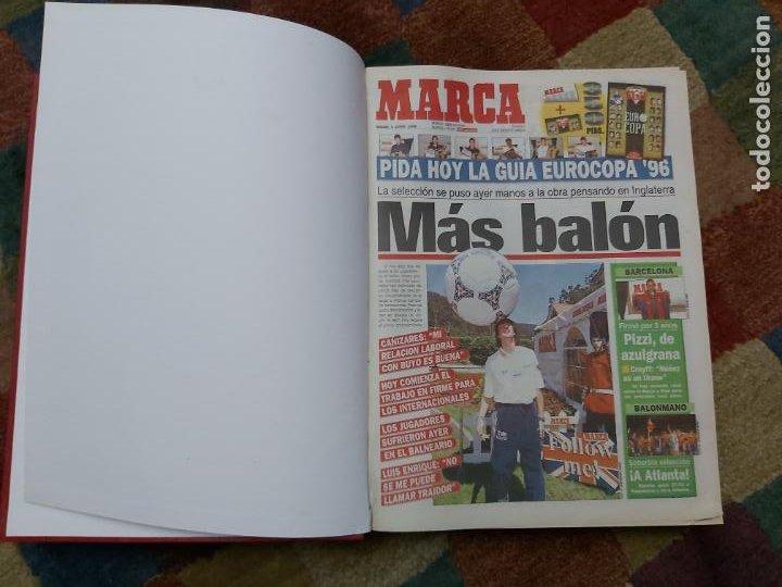DIARIO MARCA MES DE JUNIO 1996 - AÑO CAMPEON LIGA Y COPA - ATLETICO MADRID (Coleccionismo Deportivo - Revistas y Periódicos - Marca)
