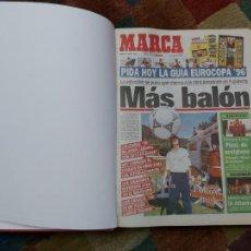 Colecionismo desportivo: DIARIO MARCA MES DE JUNIO 1996 - AÑO CAMPEON LIGA Y COPA - ATLETICO MADRID. Lote 224385700
