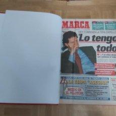 Colecionismo desportivo: DIARIO MARCA MES DE JULIO 1996 - AÑO CAMPEON LIGA Y COPA - ATLETICO MADRID. Lote 224434090