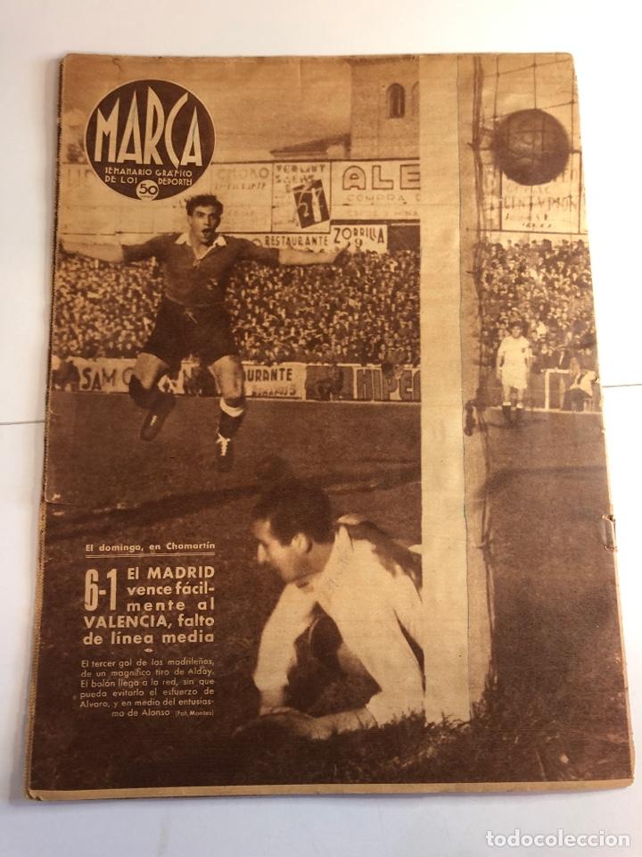 Coleccionismo deportivo: Marca semanario gráfico de los deportes 10 de diciembre 1940 número 96 - Foto 2 - 224986250
