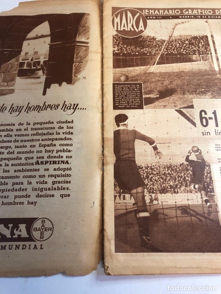 Coleccionismo deportivo: Marca semanario gráfico de los deportes 10 de diciembre 1940 número 96 - Foto 4 - 224986250