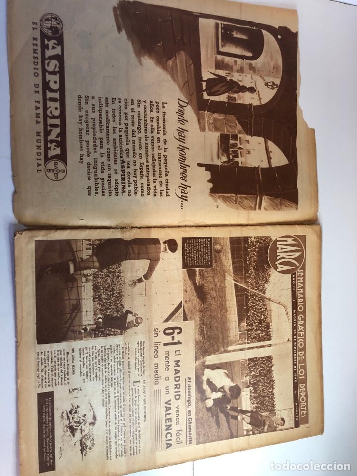 Coleccionismo deportivo: Marca semanario gráfico de los deportes 10 de diciembre 1940 número 96 - Foto 5 - 224986250