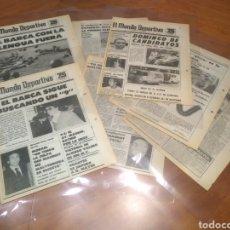 Coleccionismo deportivo: MUNDO DEPORTIVO 1-2-3 AGOSTO 1981 BARCELONA NUÑEZ LATTEK NOTICIAS BARÇA 14 PÁGINAS PLASTIFICADAS. Lote 225165020