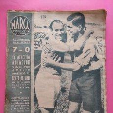 Collectionnisme sportif: PERIODICO MARCA 1943 LIGA 43/44 ATLETICO AVIACION 7-0 CELTA SEVILLA 5-2 SABADELL - EMERITENSE - ORIO. Lote 225496830