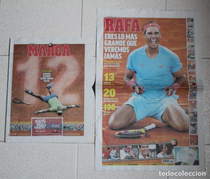 LOTE DIARIO MARCA RAFA NADAL LEYENDA ESPECIALES ROLAND GARROS DOCE Y TRECE.TENIS. (Coleccionismo Deportivo - Revistas y Periódicos - Marca)