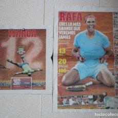 Coleccionismo deportivo: LOTE DIARIO MARCA RAFA NADAL LEYENDA ESPECIALES ROLAND GARROS DOCE Y TRECE.TENIS.. Lote 169311960