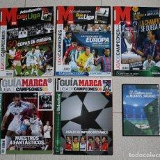 Coleccionismo deportivo: LOTE 5 GUIA MARCA LIGA DE CAMPEONES MÁS 1 DVD. DIARIO MARCA.. Lote 225554880